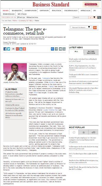 Business Standard - article snapshot