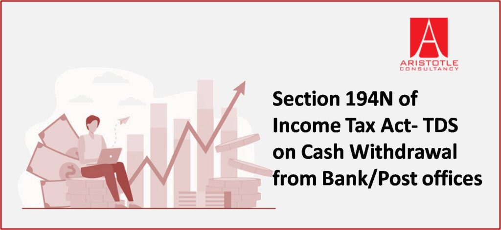 Section 194N of Income Tax Act- TDS on Cash Withdrawal from Bank/Post offices
